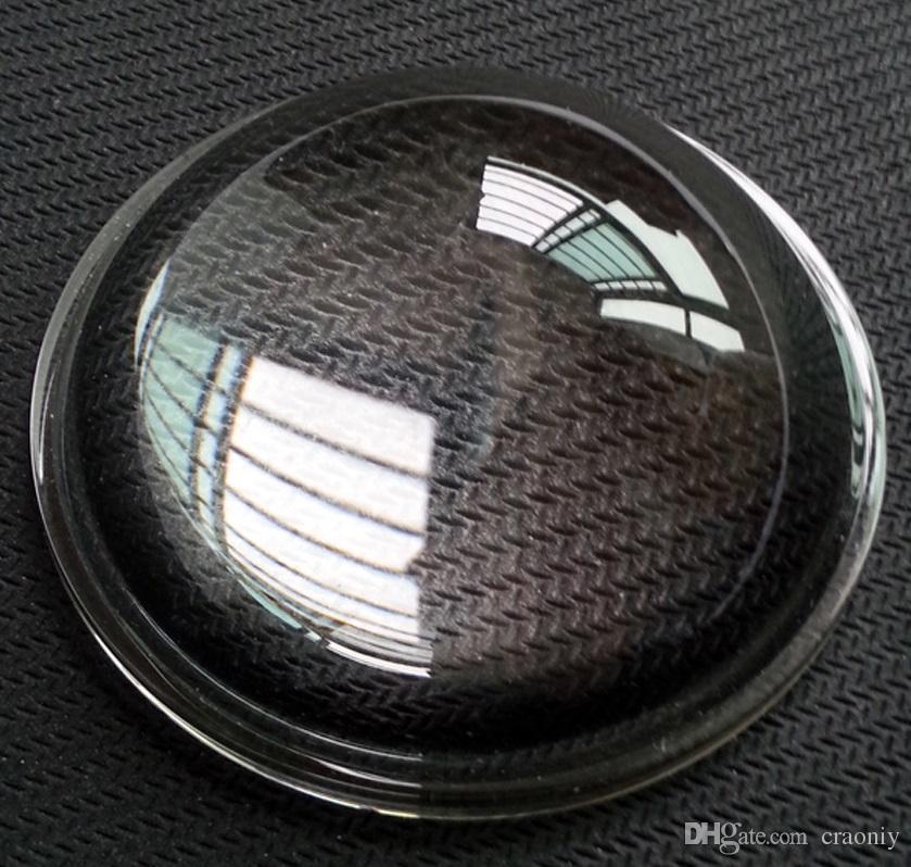 Диаметр 51 мм Автомобильная лампа стеклянная линза глянцевая светодиодная температура оптическая выпуклая линза Lente de cristal optico