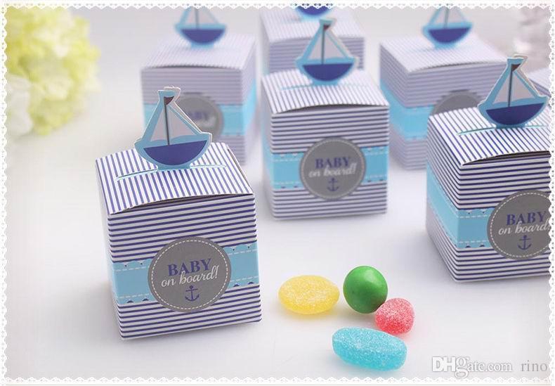 Il regalo del regalo del regalo di compleanno del bambino del contenitore di regalo della doccia di bambino di favore della doccia di bambino della barca a vela del bambino libera il fornitore