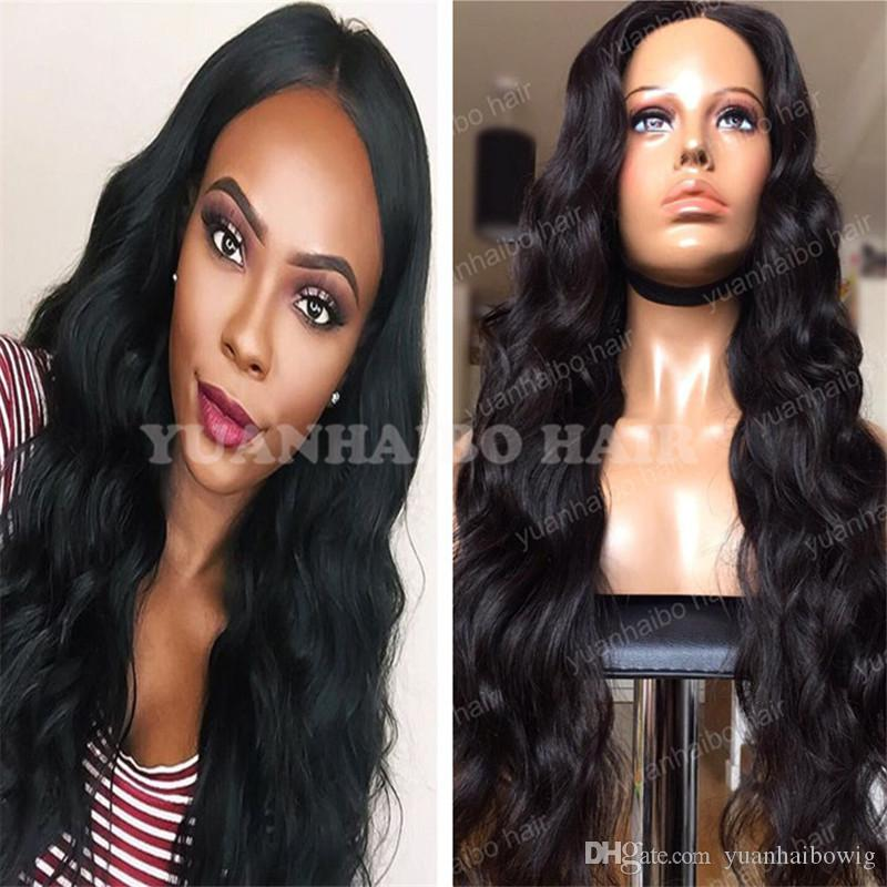 Stock Top 8A Grade Glueless Full Lace Wig Virgin Brazilian Hair Loose Wave Extra Long Lace Front Wigs Free Shipping!