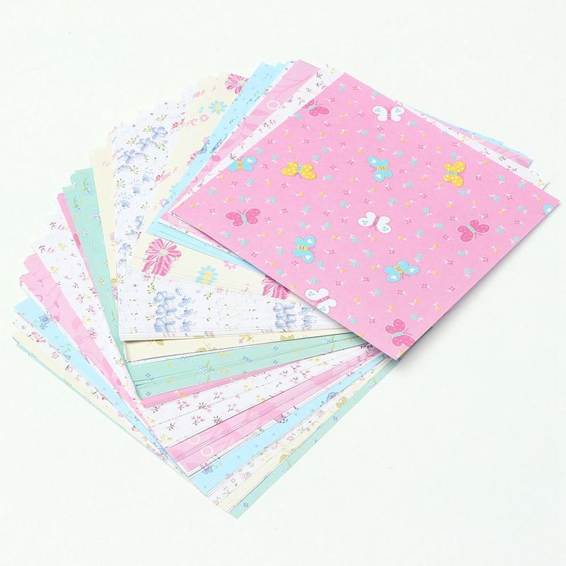 72Pcs/Set Square Floral Pattern Origami Paper Single Sided DIY Kids Folded Paper Craft Scrapbooking Decor Pattern Randomly