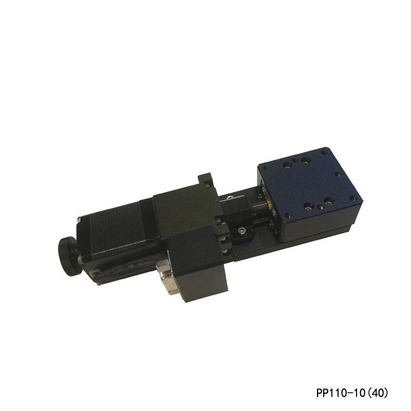 높은 정밀 전동 리니어 스테이지 전기 번역 플랫폼 +/- 10mm 여행 PP110-10 (40) / (60) 크로스 롤러 가이드