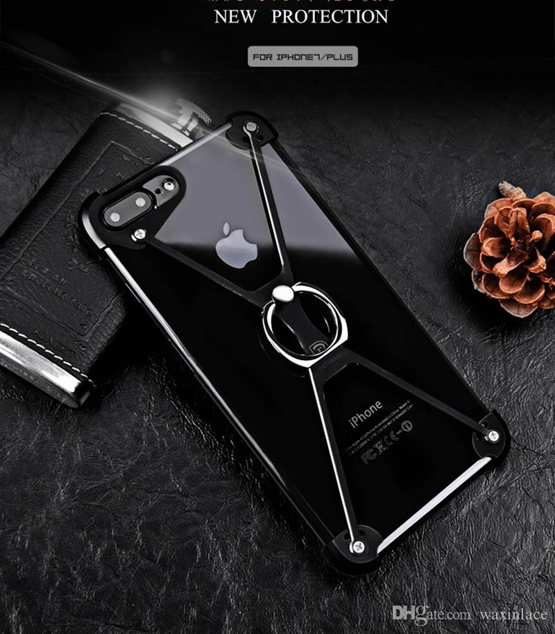 buy popular 1c6f7 f3f33 X Shape Phone Case Aluminum Bumper For IPhone 5s 6 6S Plus 7 7 Plus  Magentic Frame Screw Secured Shockproof Covers Spigen Cell Phone Cases  Tough Cell ...
