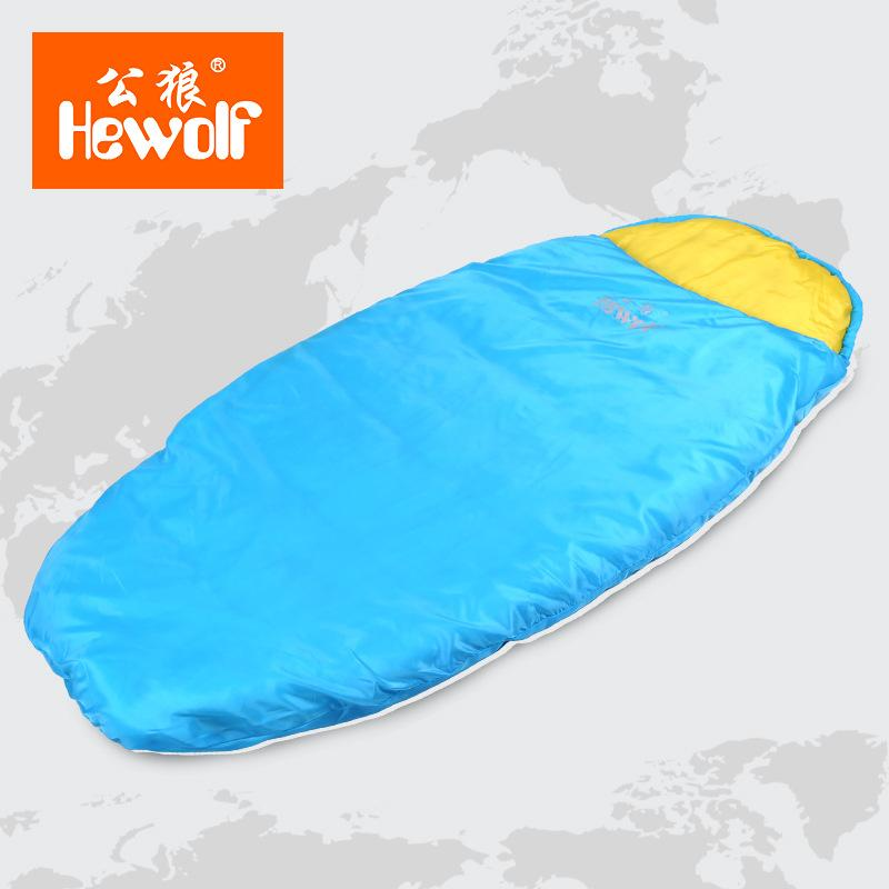 uk availability 3a3ae 79282 Wholesale Hewolf Authentic Male Wolf Children Sleeping Bag Outdoor Summer  Autumn Warm Outdoor Camping Sleeping Bag Students Lunch Bag Pretty Sleeping  ...