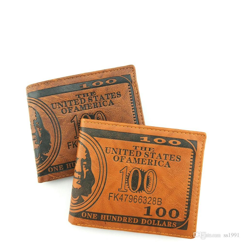 Men Wallet New Fashion Sale Dollar Price Pattern Designer Men's Wallets Casual Credit Card Holder Purse