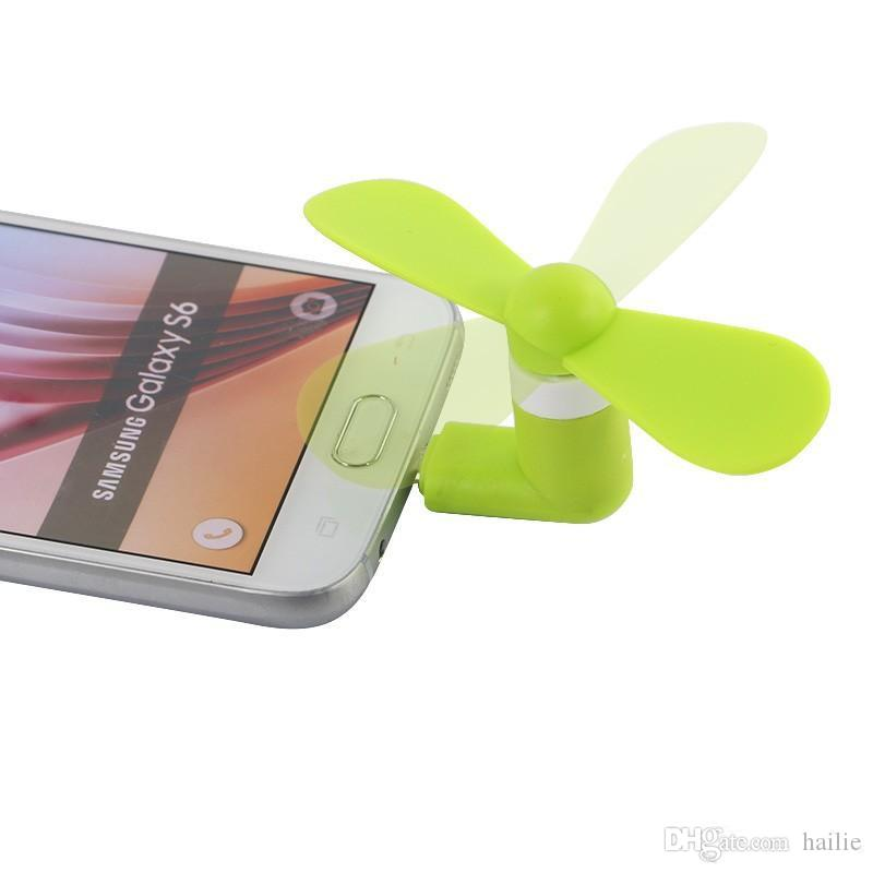 Mini Cool Micro USB Fan Mobile Phone USB Gadget Fan Tester Cell phone For type-c i5 Samsung s7 edge s8 plus