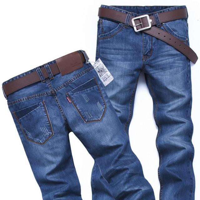 Wholesale- HOP CALIENTE INTERIOR HOTOS 2021 Denim Hip Plancha Jeans Jeans Jeans Straight Ripped Slim Homme 28-40 Overly Tallas Tallas Efect WuChn