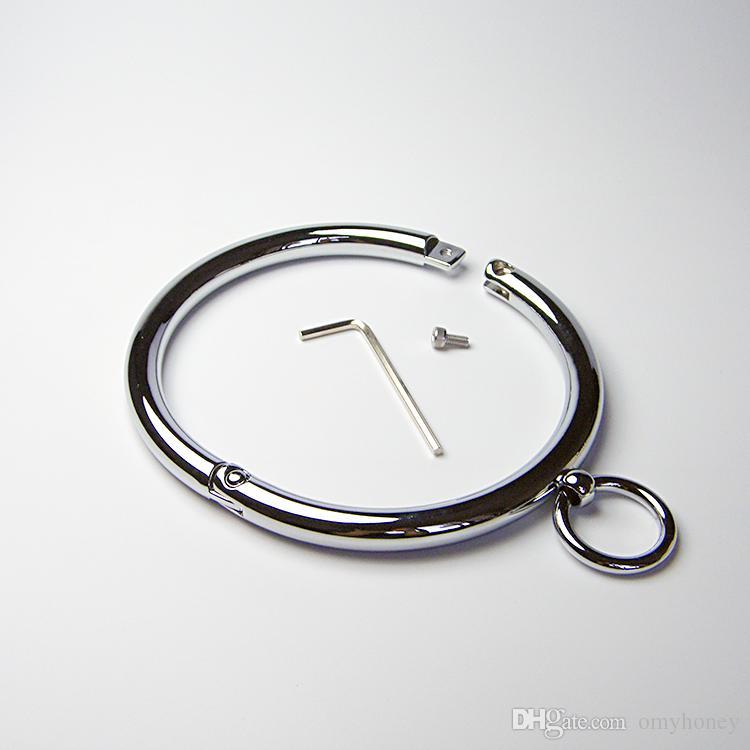 Spielzeug SM439 Stahl Bondage Hals Sex Collar Gürtel, Weibliche neue Keuschheit für Frauen, Ring, Geräte Hals Edelstahl WOXXP