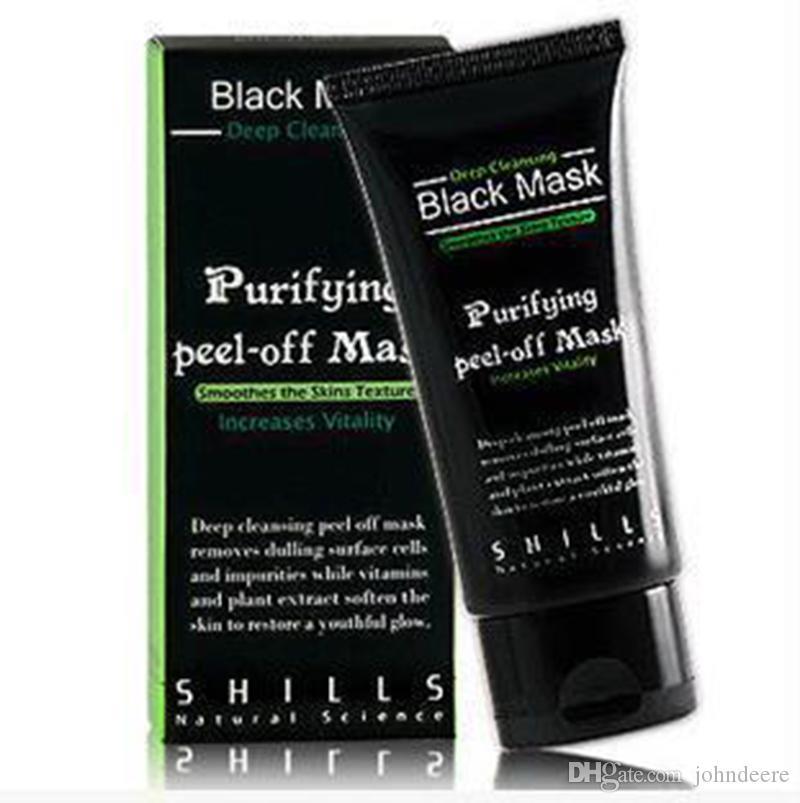 SHILLS Maschera nera 50ML Deep Purificante purificante staccata Maschera facciale nera Rimuovi la buccia di comedone spedizione gratuita