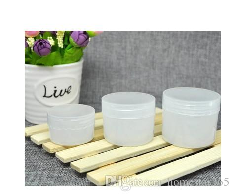 2017 New 30g Cosmetic Empty Jar Pot Makeup Face Cream Container Refillable Bottle PP Jars White Color Make up Tools