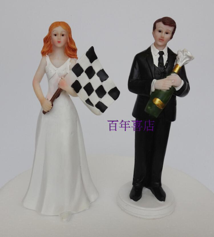 I nuovi toppers della torta di nozze creativo boutique in stile Mestieri della resina della resina della decorazione regali per San Valentino
