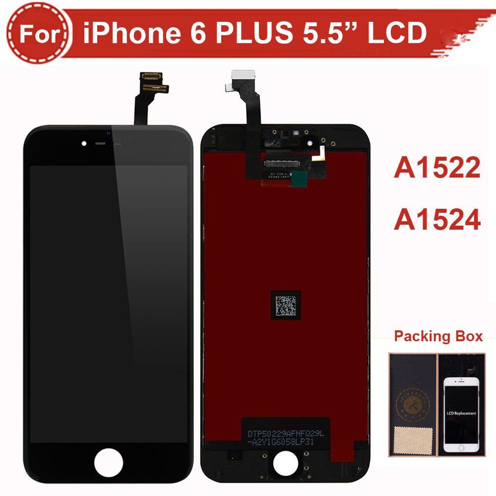 Черный ЖК-Экран Digitizer Ассамблеи Для iPhone 6 Plus A1522 A1524 Ремонт Часть