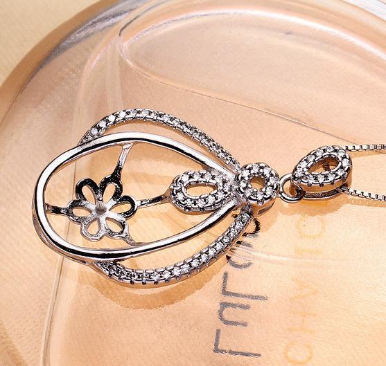 Heißer Verkauf eingelegter Großhandelszircon natürlicher Perlen-hängender Halsketten-Zusatz verhindert Allergie DZ0218