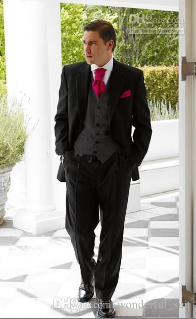 신랑 턱시도 최고의 남자 정장 웨딩 Groomsman / Men Suits 신랑 (Jacket + Pants + Tie + Vest) G307