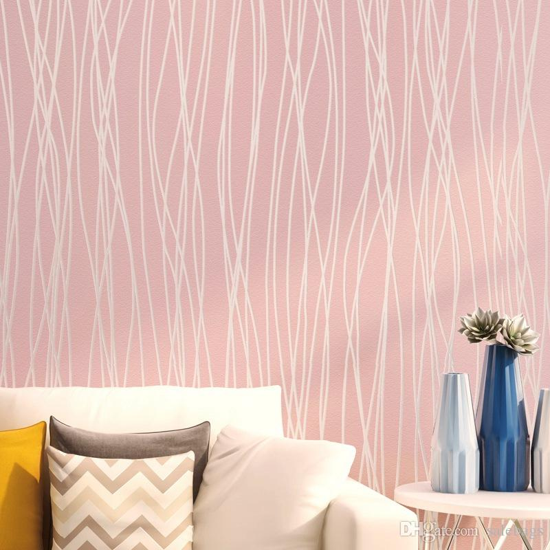New Arrival Modern Striped Wall Paper Non Woven Fabric Wallpaper ...