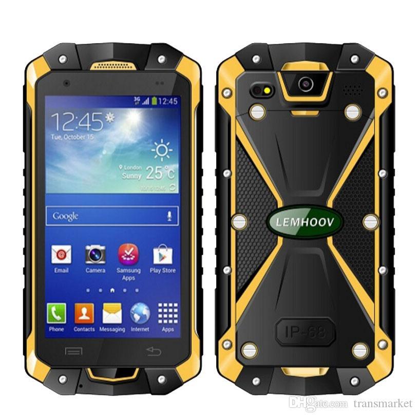 Original L15 Smartphone 1GBRAM 8GBROM 4.5Inch IP68 Waterproof Mobliephone Android Smartphone MTK6582 QuadCore GPS Dual SIM Smartphone Newest