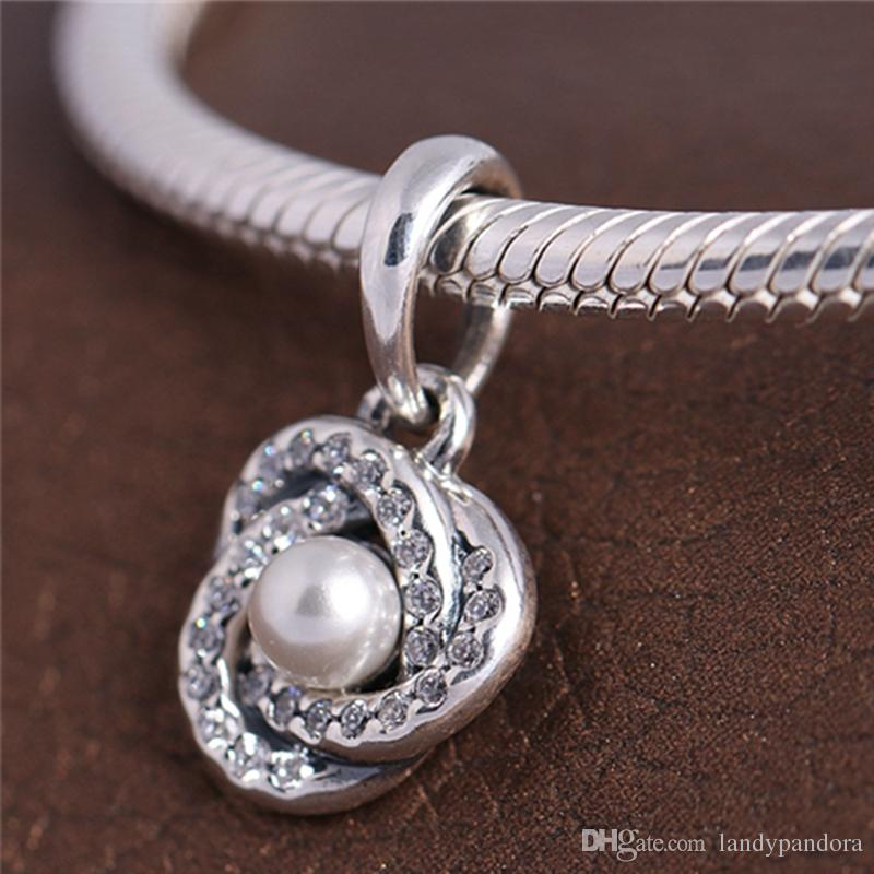 2017 Primavera 925 Sterling Silver Luminosa Amor Nó Dangle Charme Bead Serve Para Pandora Europeu Jóias Pulseiras Colares Pingente