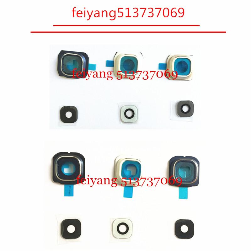 10pcs Original new for Samsung Galaxy s6 G920/S6 Edge g925 Back Rear Camera Lens And Lens Cover with real glass