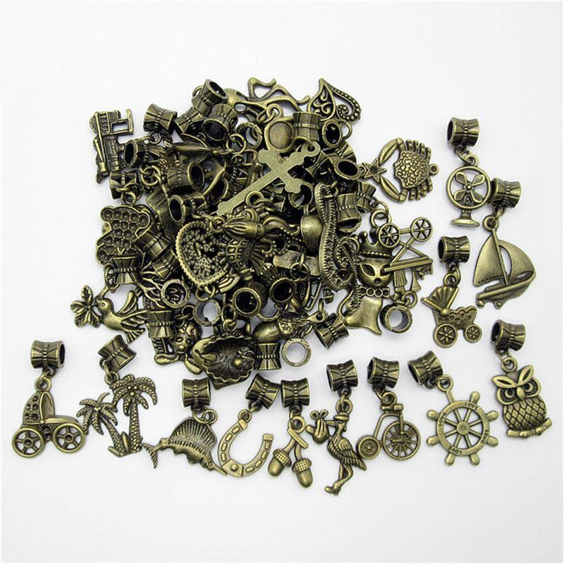 wholesale mix different bronze bead fit for pandora style