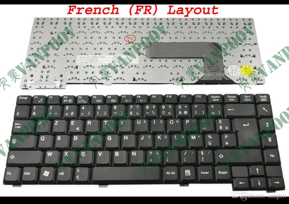 Новый портативный ноутбук клавиатура для Fujitsu Амило Pa1510 Pa2510 Pi1505 Pi1537 Pi1556 Pi2515 черный французской версии FR - МП-02686F0-360FL версия