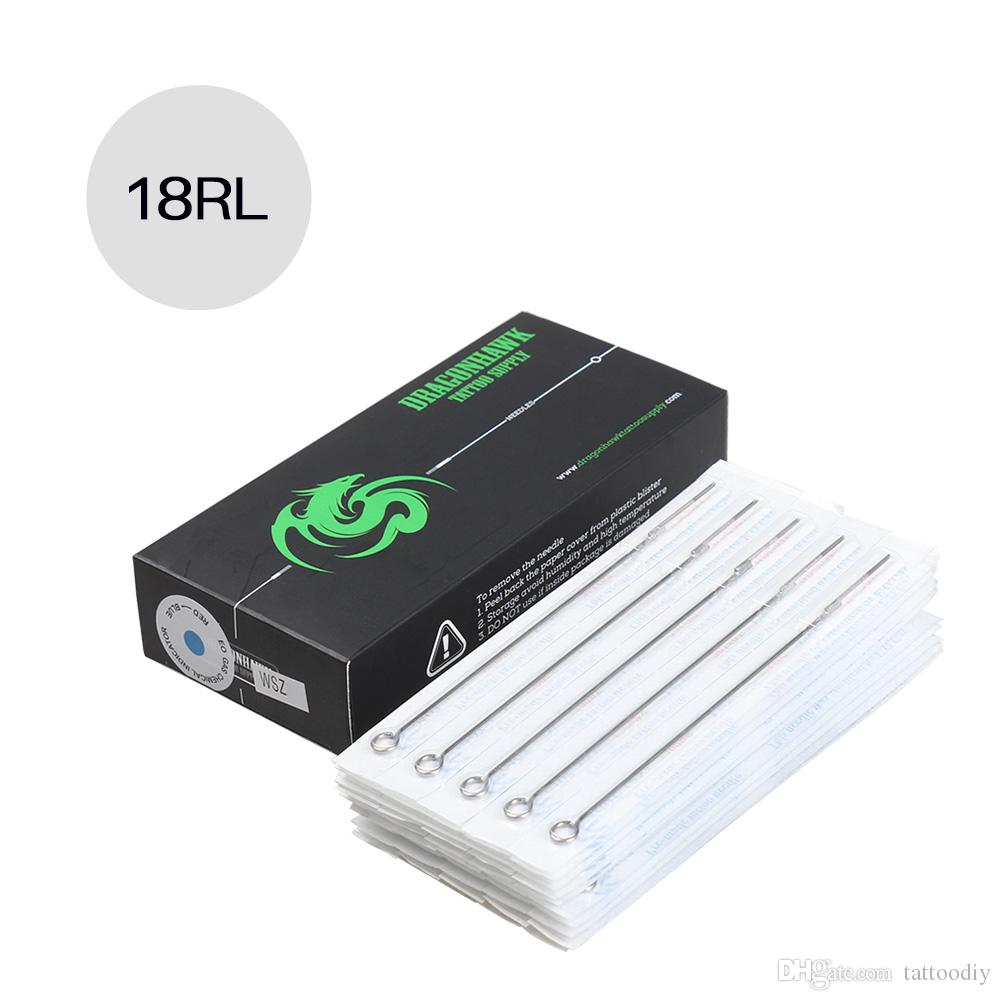 Cheap Tattoo Needles 50pcs size at 18RL disposable stainless steel sterilized needles MT-18RL