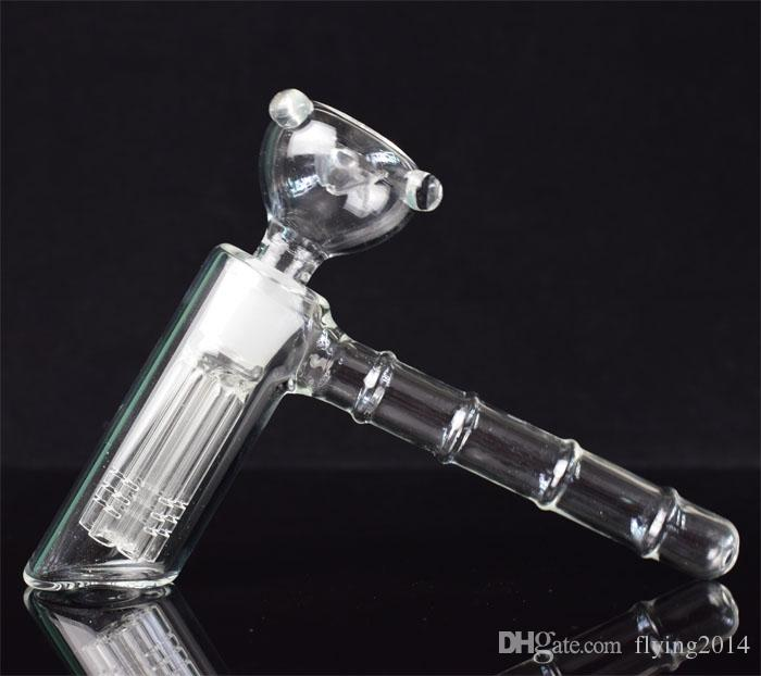 Hot Selling glass hammer 6 Arm perc glass percolator bubbler water pipe matrix smoking pipes tobacco pipe bong bongs