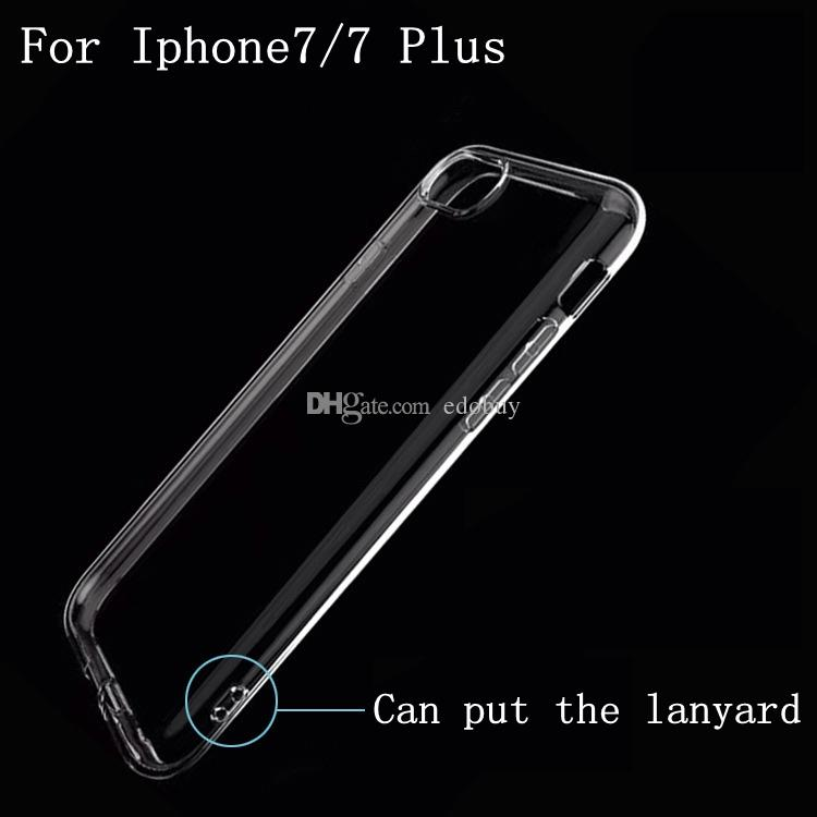 For iPhone7 Soft Clear TPU Gel Silicon Phone Case For Apple iPhone 7 Plus Transparent Cover Bags