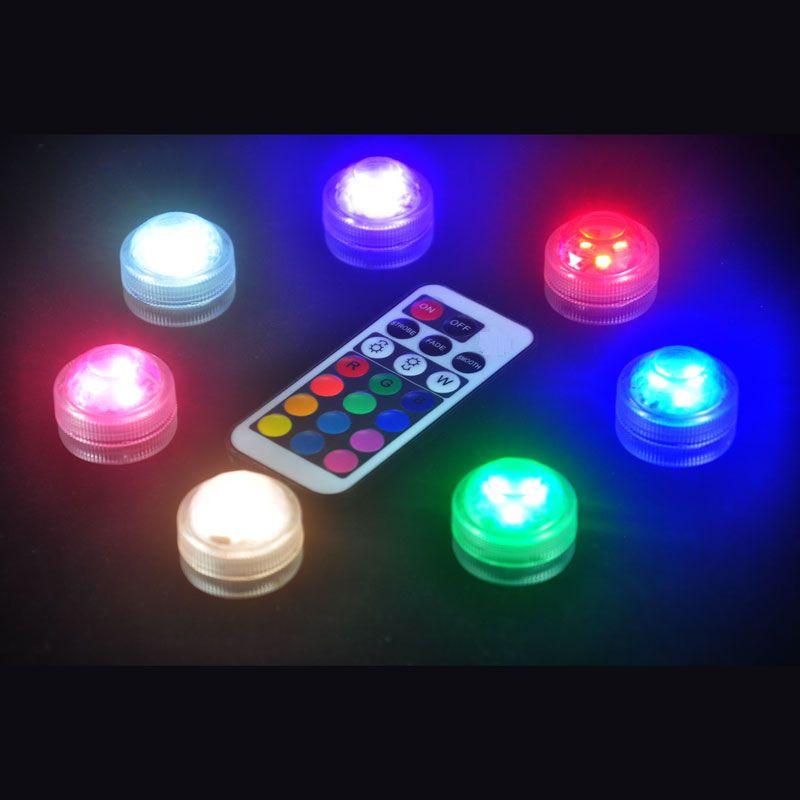 Luces LED impermeables con control remoto para bongs de vidrio, plataformas petrolíferas, pipa de agua, shisha, batería y acuario de peces, lámparas de florero.