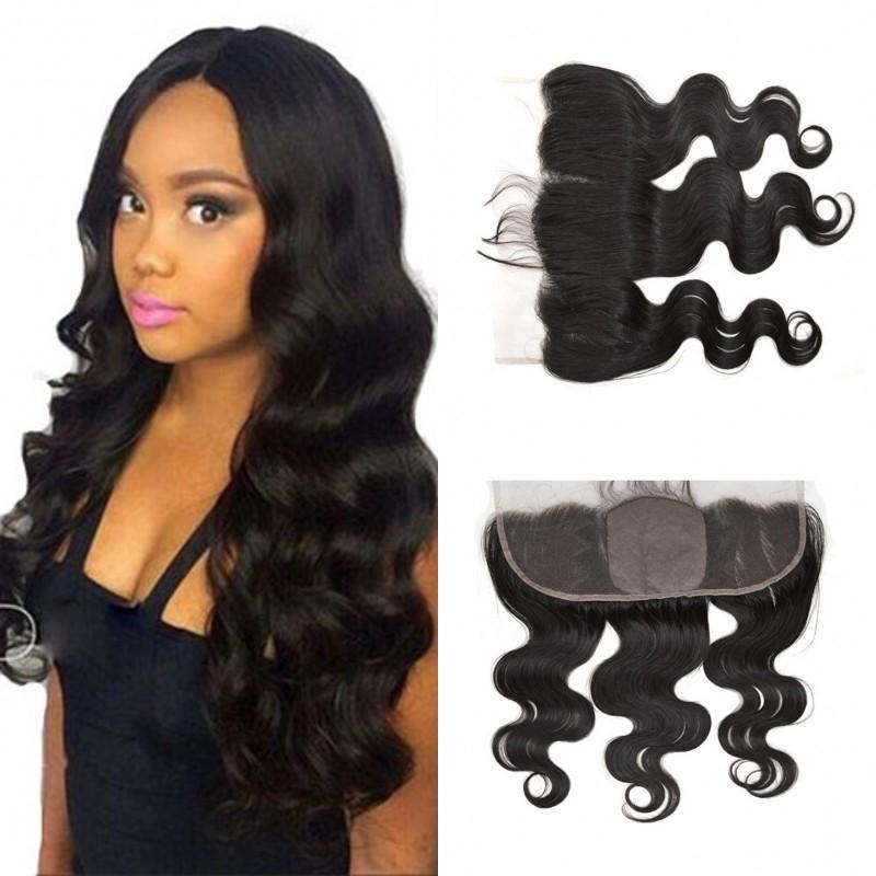 Cambodian Body Wave Human Hair Silk Base Lace Frontal Ear To Ear Swiss Lace 13x4 Silk Base Frontal Free Shipping FDSHINE