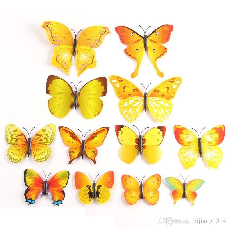 New 3d Butterfly Stickers Removable Mural Crafts Art Design Decal ...