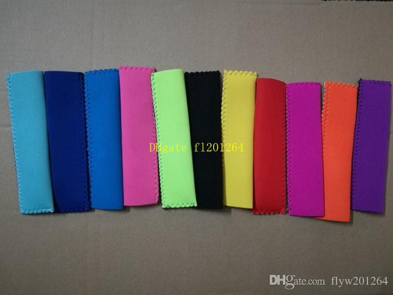 50pcs / lot DHL Fedex schnelles Verschiffen 15x4cm Halter Ice Sleeves Freezer Halter 10 Farben