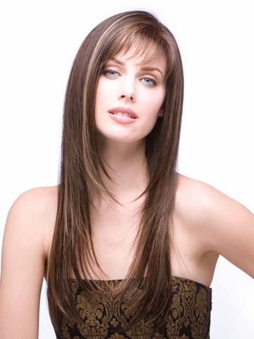 Women Nice Long Natural Straight Wig Stylish Lady Ombre Synthetic Hair Wigs Color Peruca Peluca Perruque