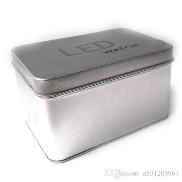 Großhandels-niedriger Preis-heiße Verkäufe Quadrat-Uhr-Kasten-Papier- / Zinn-Platten-Uhr-Kasten-Geschenk-Kasten für Uhr
