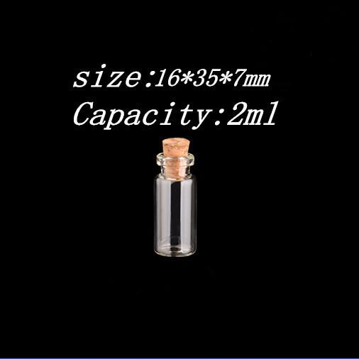 Mini Clear Glass Bottles With Cork Small Tiny Vials Jars Containers Cute Wishing Bottle