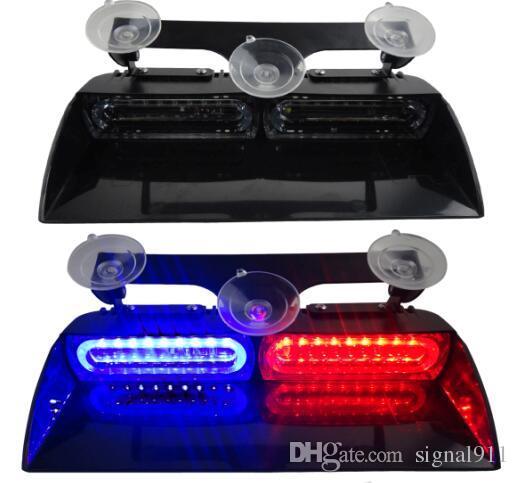 High quality DC12V/24V 18W Led Visor Emergency light,dash light ,police light with cigartte lighter,16 flash pattern,waterproof