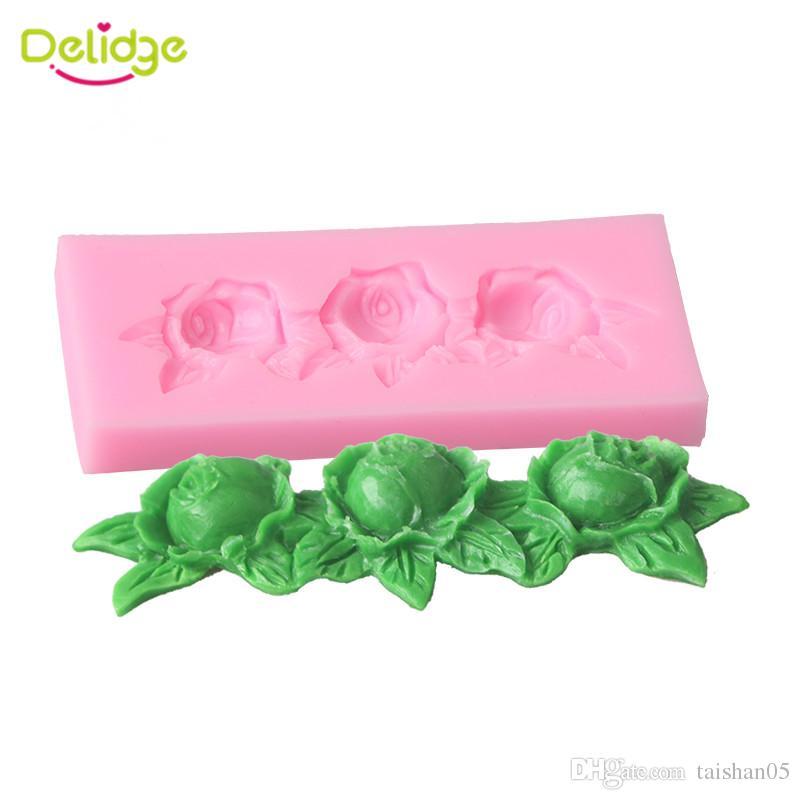 1pc Rose Flower Silicone Mold For Cake Fondant Sugarcraft Chocolate Soap DIY Wedding Cake Decorating Tools