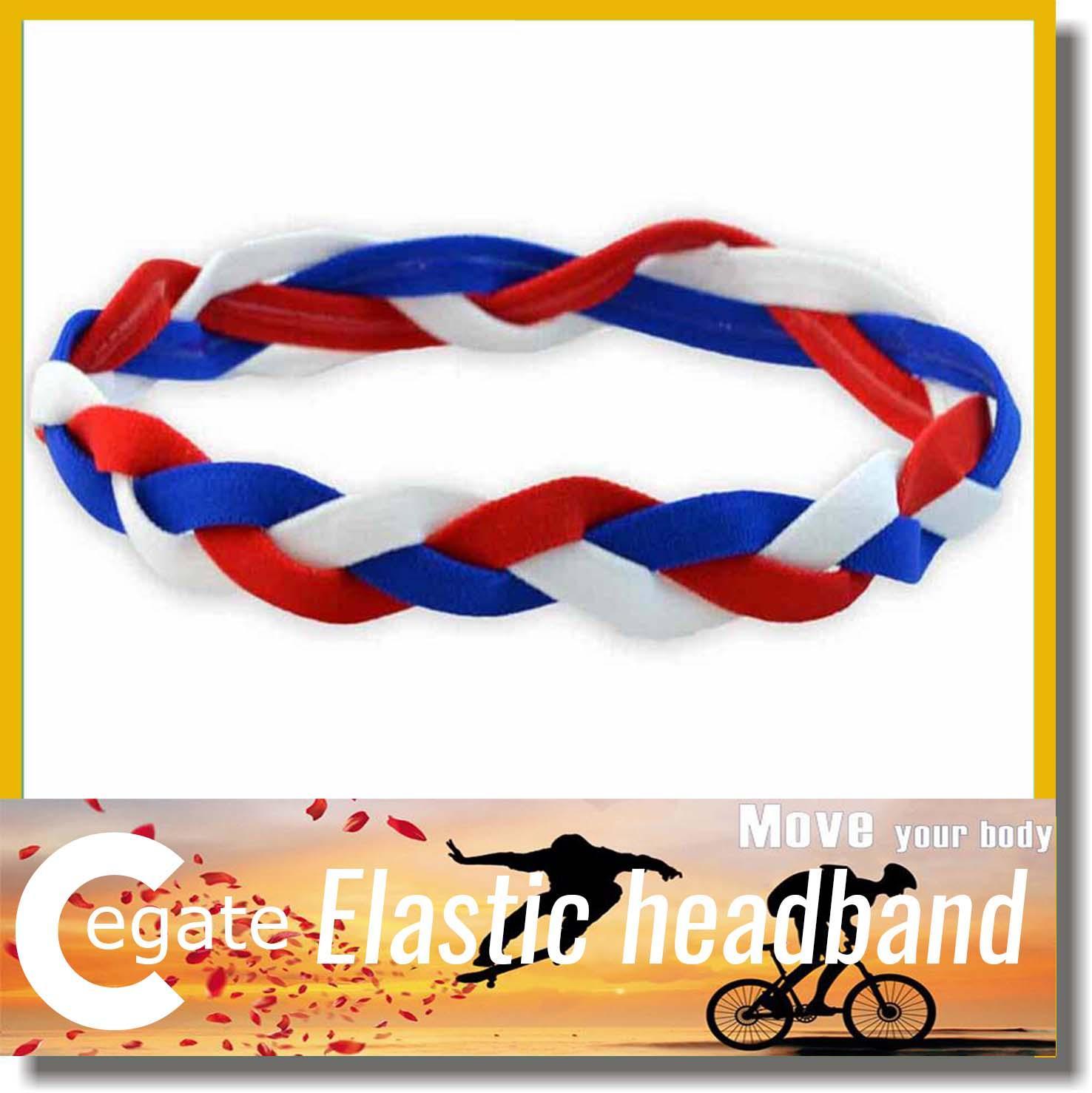 baseball softball sports headbands set elastic nylon for girls braided mini non slip hairbands free shipping