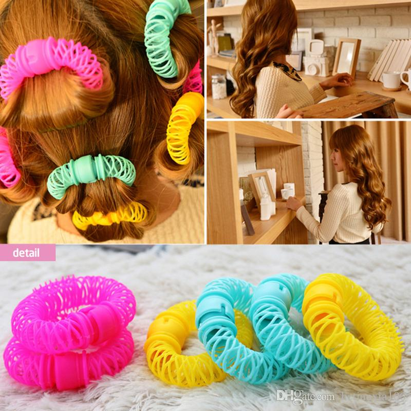 New Hair Styling Roller Hairdress Magic Bendy Curler Spiral Curls DIY Tool 8 Pcs