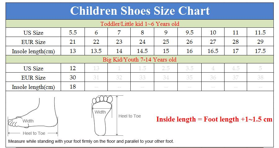 chinese shoe size to us child