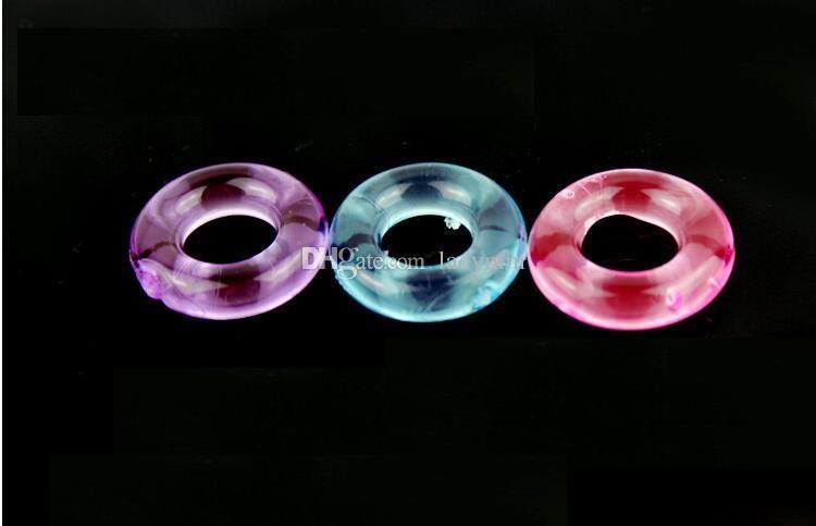 500pcs adulto sesso cazzo anello anello anello giocattolo tempo ritardo prodotti sesso cockrings silicone pene uomini per eiaculazione elastica maschio KMVFB