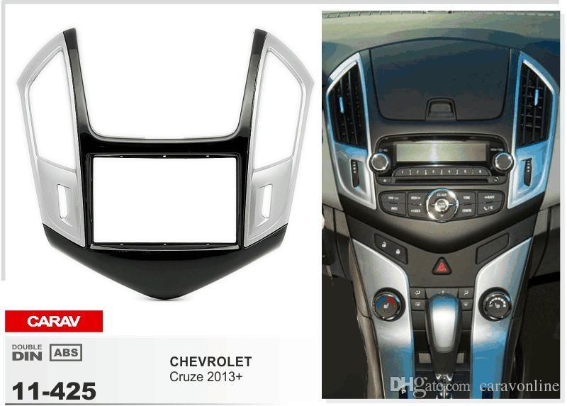 CARAV 11-425 Mir Radio install apprecting trim kit for CHEVROLET Cruze 2013+ (Silver) 2-DIN