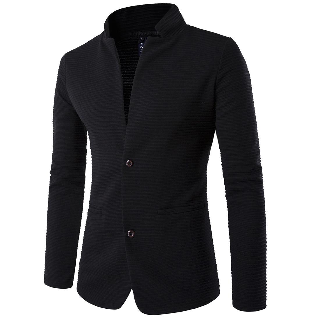 Оптовый- 2017 Новый Slim Business Blazer Куртка Человек Пэчворк с длинным рукавом плюс размер Мужская Костюмная куртка 5XL Winter Fitness Coat Мужской Люкс