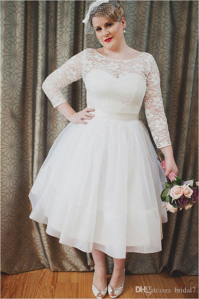 Discount 1950 S Style Vintage Full Lace Wedding Dresses Bateau