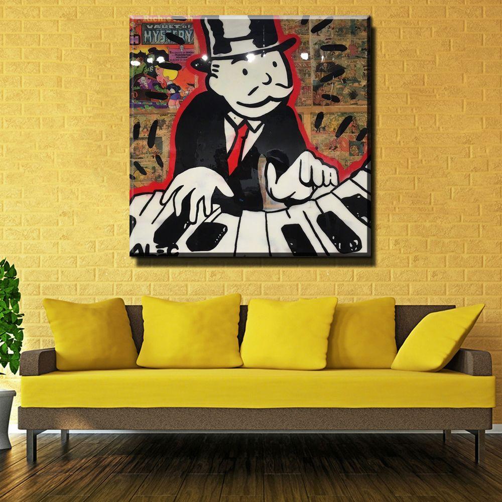 ZZ206 New DJ Music Alec monopoly Graffiti arts print canvas for wall ...