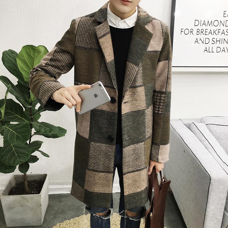 Gros-Plus taille M-5XL 2016 nouveaux hommes d'hiver manteau hommes longue section d'affaires décontractée coupe-vent veste longue section de vêtements pour hommes