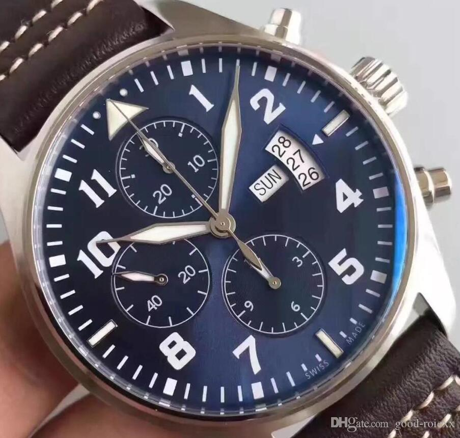07dc97c17 Super Zf Factory Mens Automatic Chronograph Eta 7750 Watch Men Day Time  Date 377706 Leather Valjoux Watches Swiss Sapphire Sport Stopwatch Buy  Clothes ...