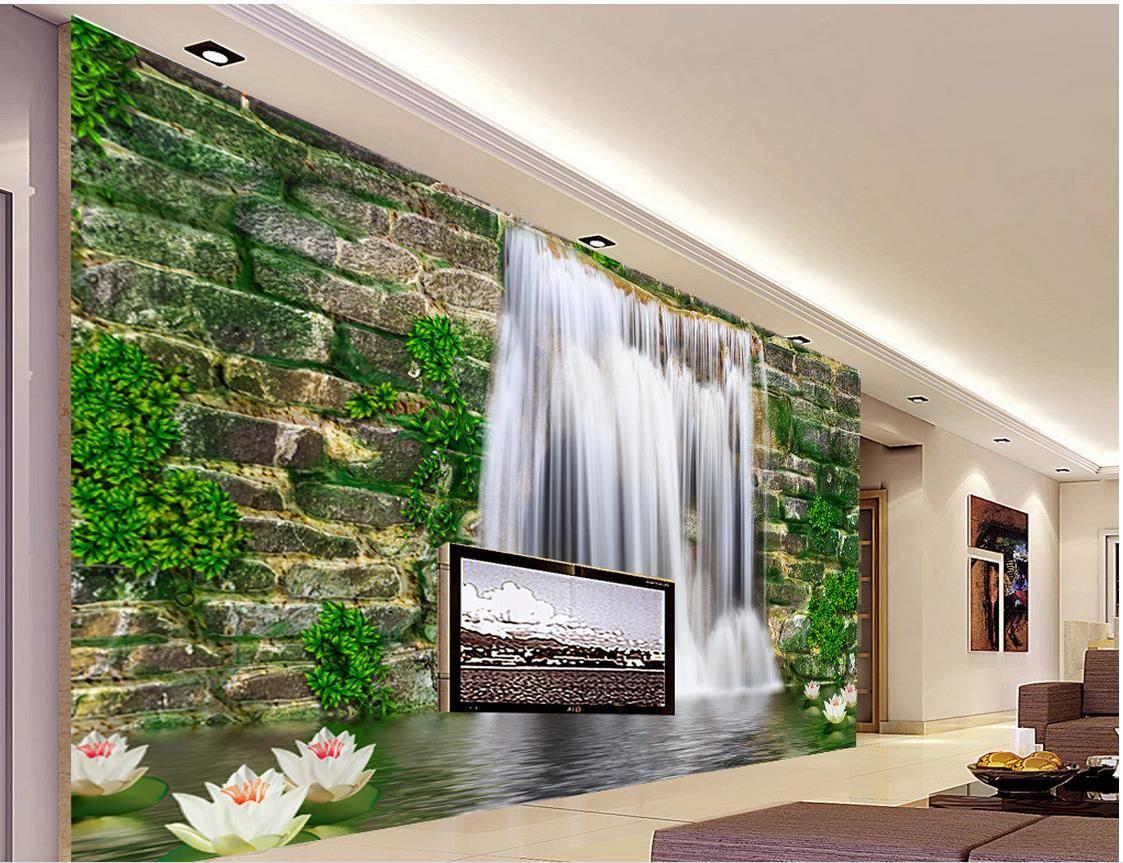 fashion 3d home decor beautiful stone wall waterfall 3d tv wall 3d fashion 3d home decor beautiful stone wall waterfall 3d tv wall 3d wall murals wallpaper