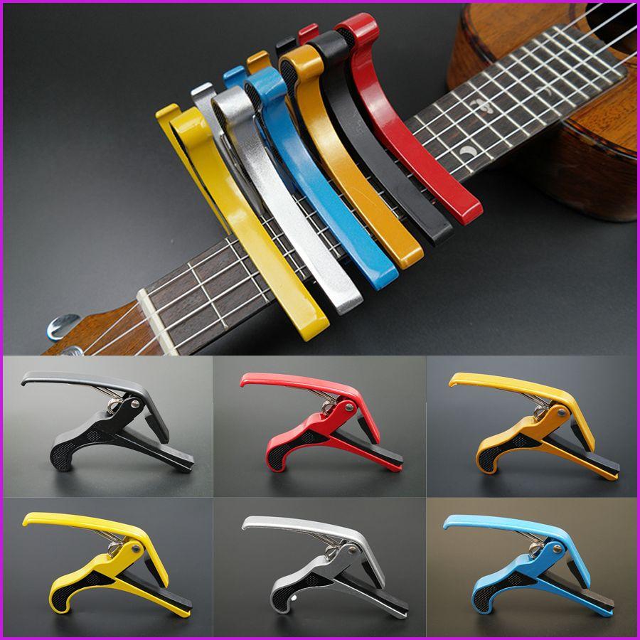 6 ألوان جديد وصول الغيتار الفك كابو المشبك للكهرباء والصوتية طوبا الغيتار الزناد الإصدار شحن مجاني