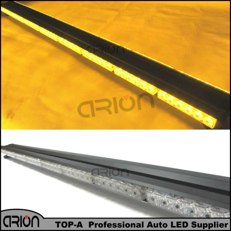 "High Power 47"" 288W 96 LED Amber Yellow Emergency Lighting Traffic Advisor Work Flash Strobe Light Bar Warning Flash Lamp Lights"