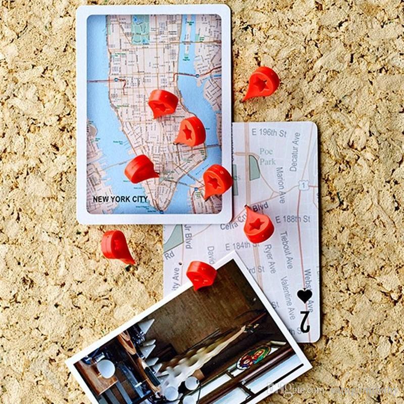 Carte marqueur punaise Punaises bureau de liaison Supplies Pin Cork mur clous photo mur Goujons 20 pcs / set