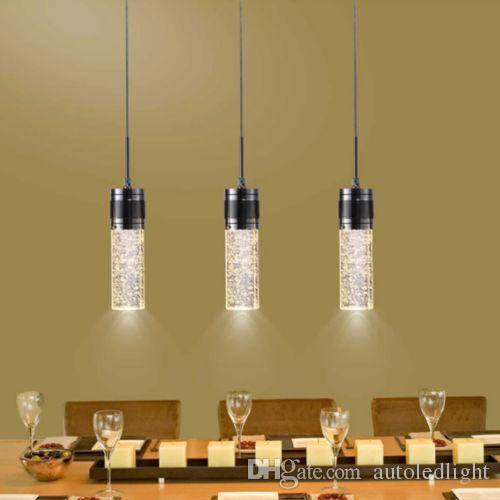 new arrival 00714 46d38 Modern LED Bubble Crystal Hanging Lamp Three Lamps Chandelier Style  Creative Lamp Lights Bubble Pendant Light Fixture Pendants Lighting Instant  ...